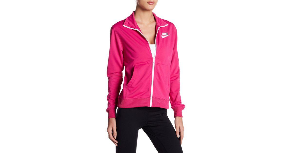 Lyst Sport Jacket Track Nike 88na5zfq In Pink rfrwZxRBqU