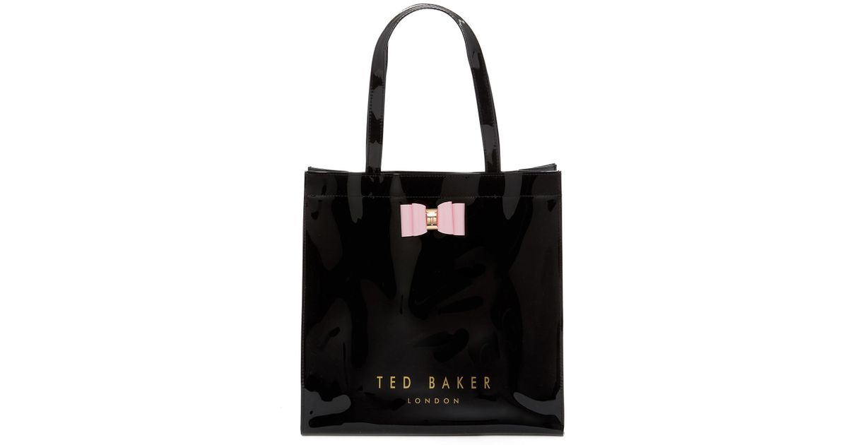 a39d562b35a4 Lyst - Ted Baker Bethcon Core Large Icon Tote Bag in Black