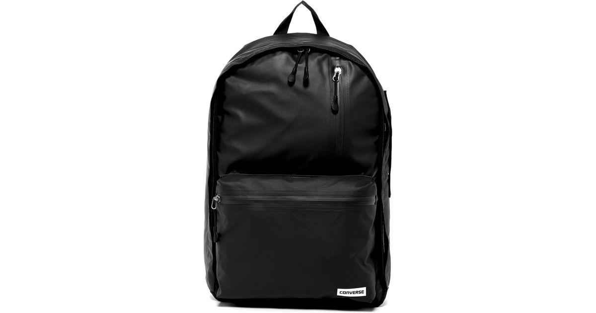 Lyst - Converse Rubber Backpack in Black for Men af27feea1f05d
