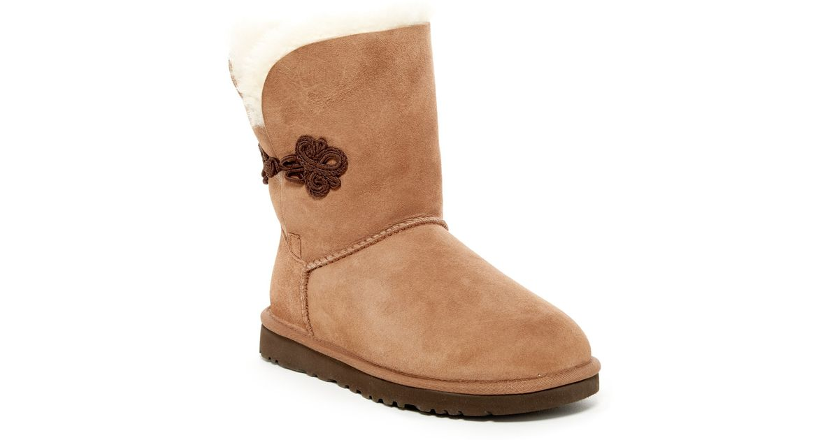 cbf2aa56581 UGG - Brown Bailey Mariko Genuine Shearling Boot - Lyst
