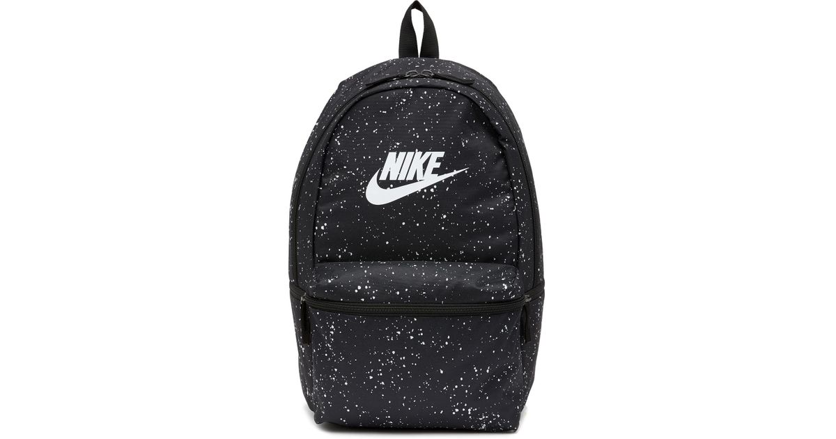 bd75fc76eb61a Nike Heritage Aop Backpack in Black for Men - Lyst