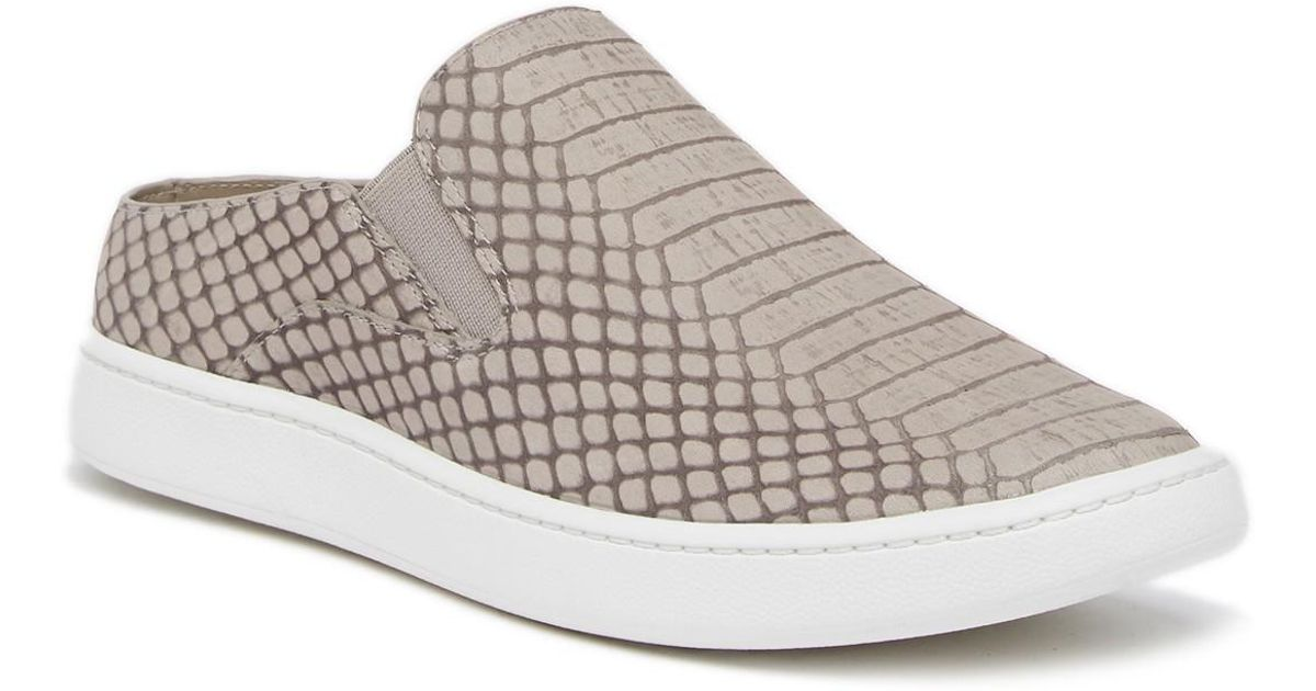 Vince Verrell Croc Embossed Leather Slip-On Sneaker