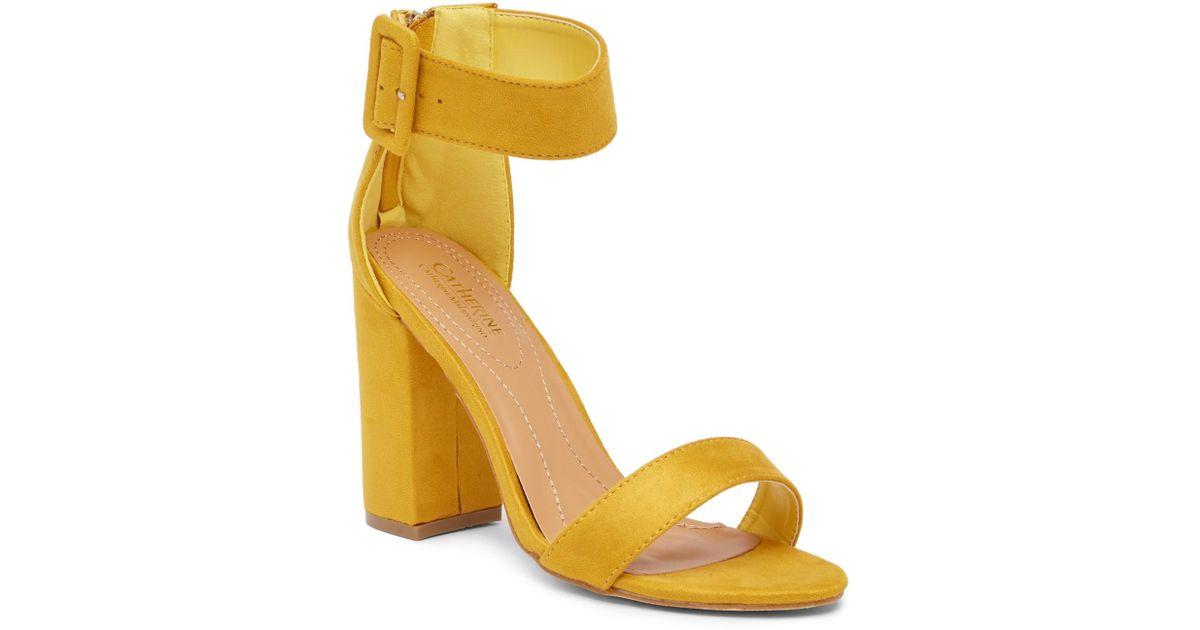 dac087954c1 Lyst - Catherine Malandrino Seaker Open Toe Heeled Sandal in Yellow