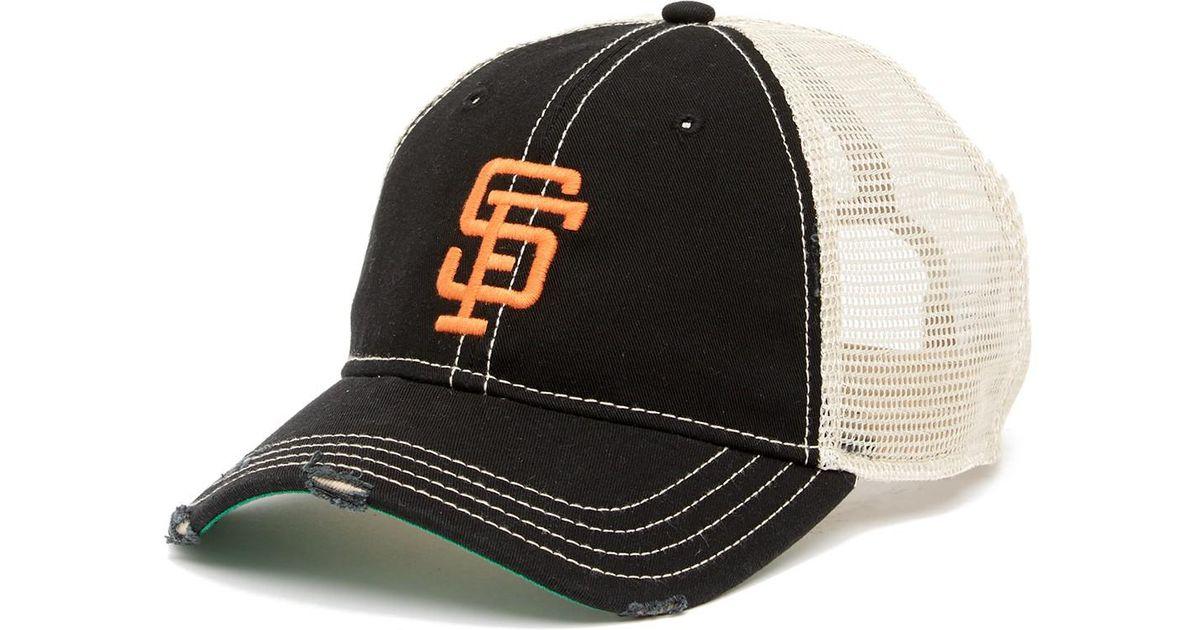 501637d3e76d55 Lyst - American Needle San Francisco Giants Mesh Back Baseball Cap in Black  for Men