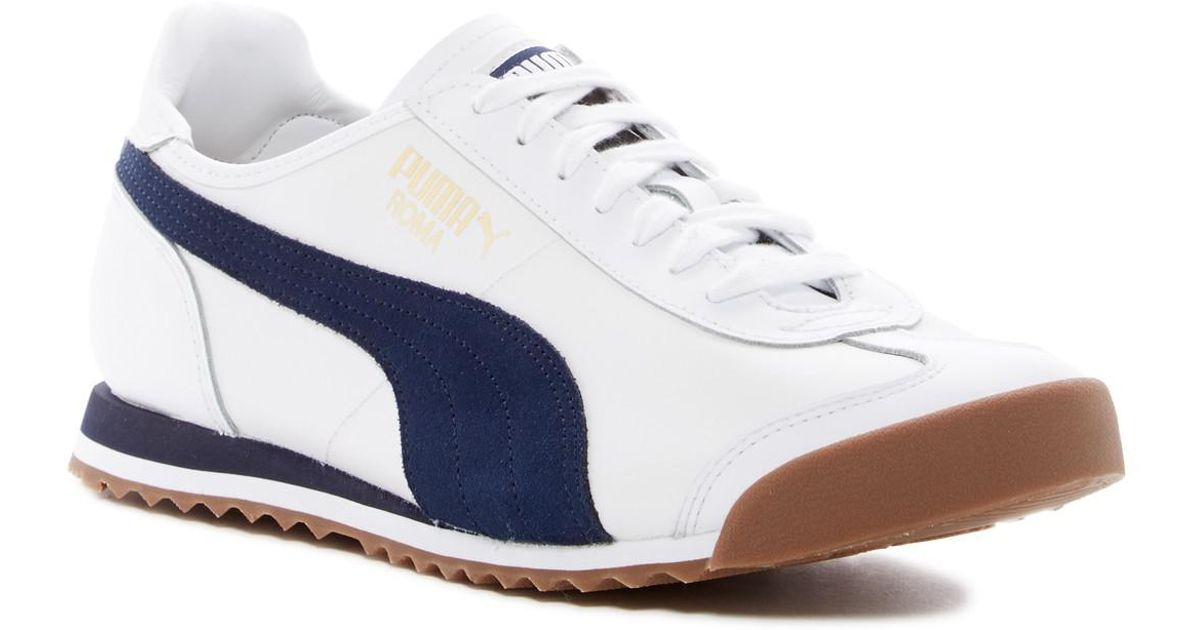 0f2dd02253d0 Mens Blue California Og authorized site 3614b 8f61e  Lyst - Puma Roma  Sneaker in White for Men innovative design e00fa caeaa ...