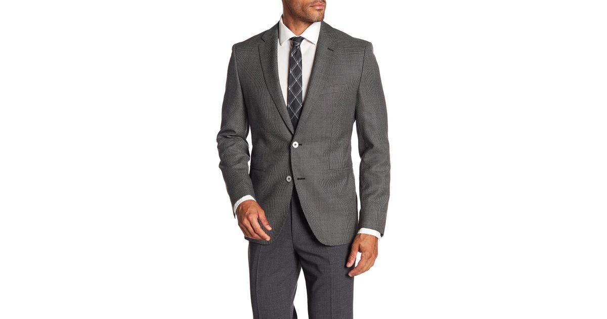 6e38d0c7a4a Lyst - BOSS Jedson Two Button Notch Lapel Virgin Wool Sport Coat in Gray  for Men