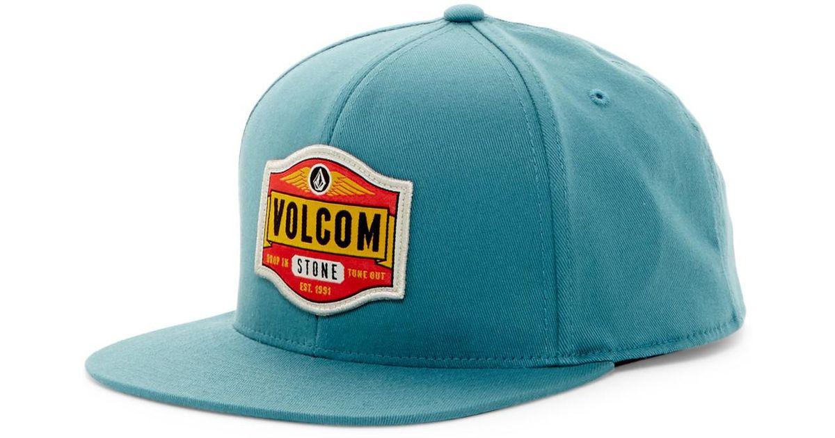 Lyst - Volcom Standard 110f Snapback Cap in Blue for Men 96d1121cc6e
