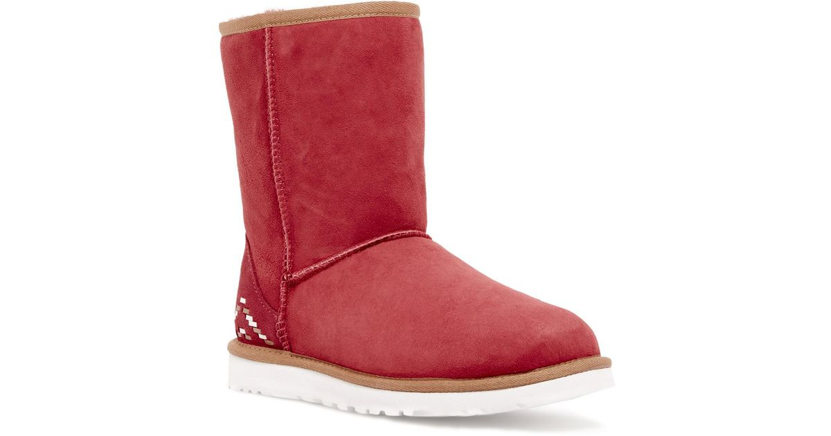 738e46d5d67 Ugg - Red (r) Australia 'classic Short - Rustic Weave' Boot (women) - Lyst
