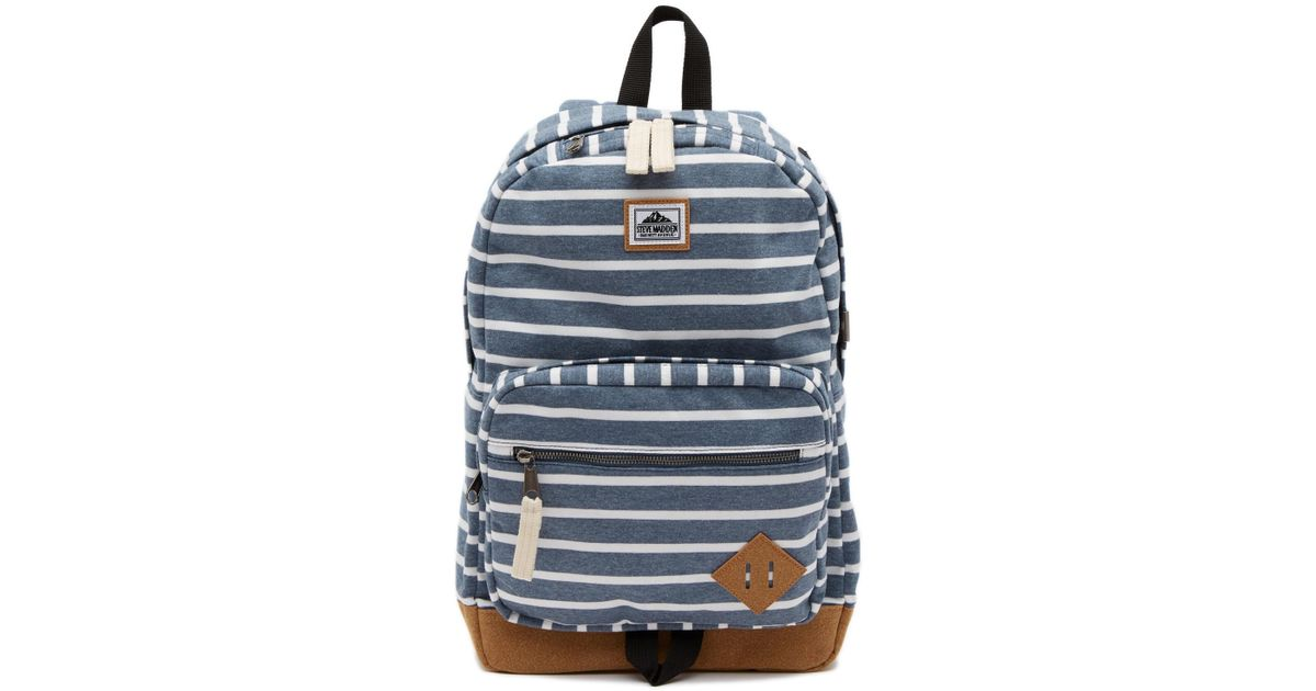 cc0f0c5d88b Steve Madden Stripe Jersey Classic Dome Backpack in Blue for Men - Lyst