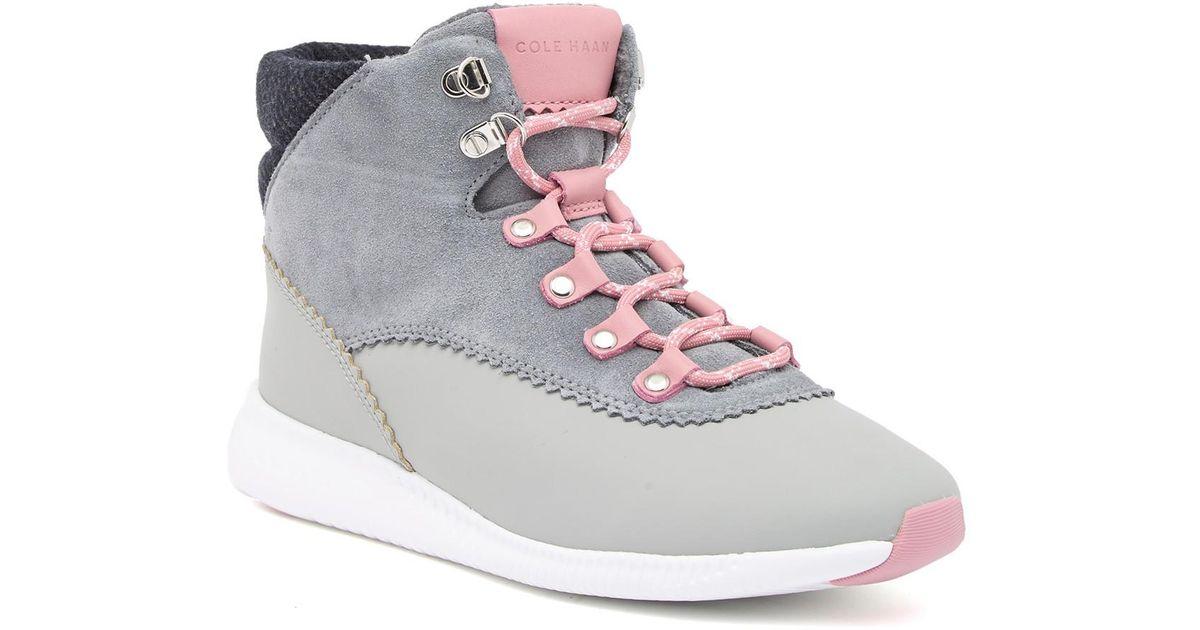 e14f7211aad Lyst - Cole Haan 2.zerogrand High-top Waterproof Sneaker in Gray