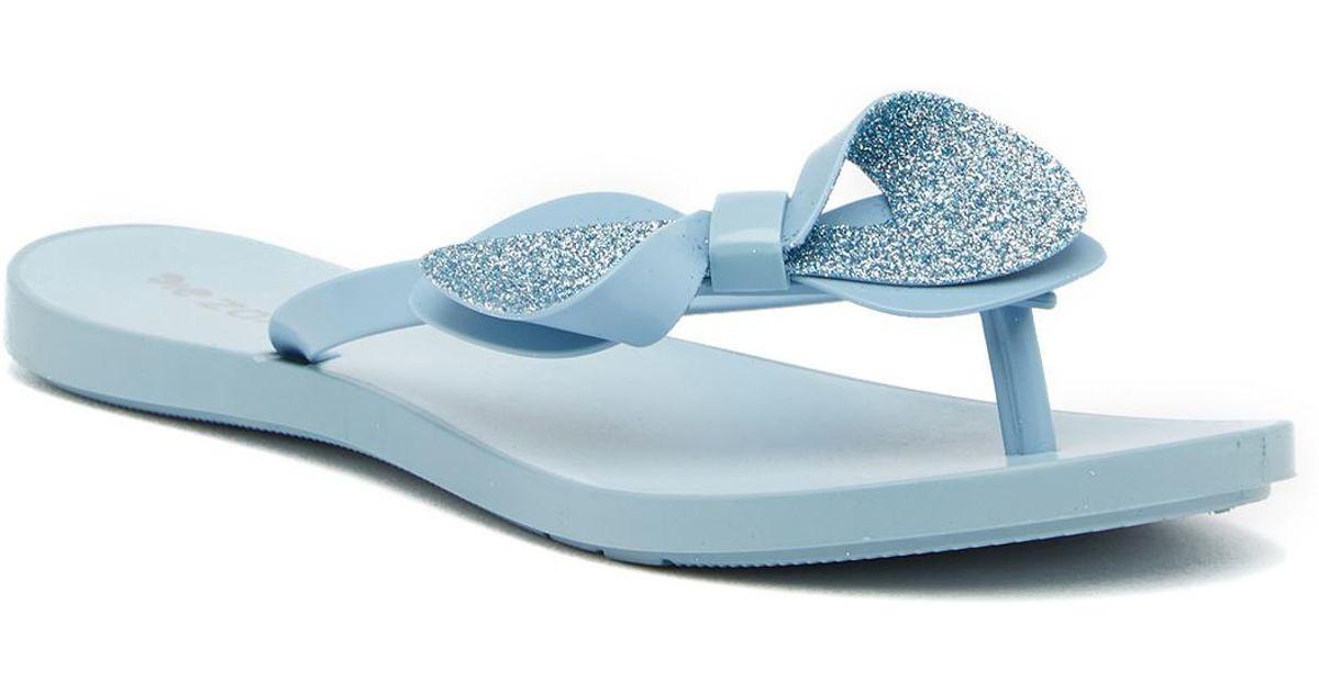 89daaac9fff552 ... Lyst - Zaxy Fresh Trip Flip Flop Sandal in Blue discount sale c7fe5  163e1 ...
