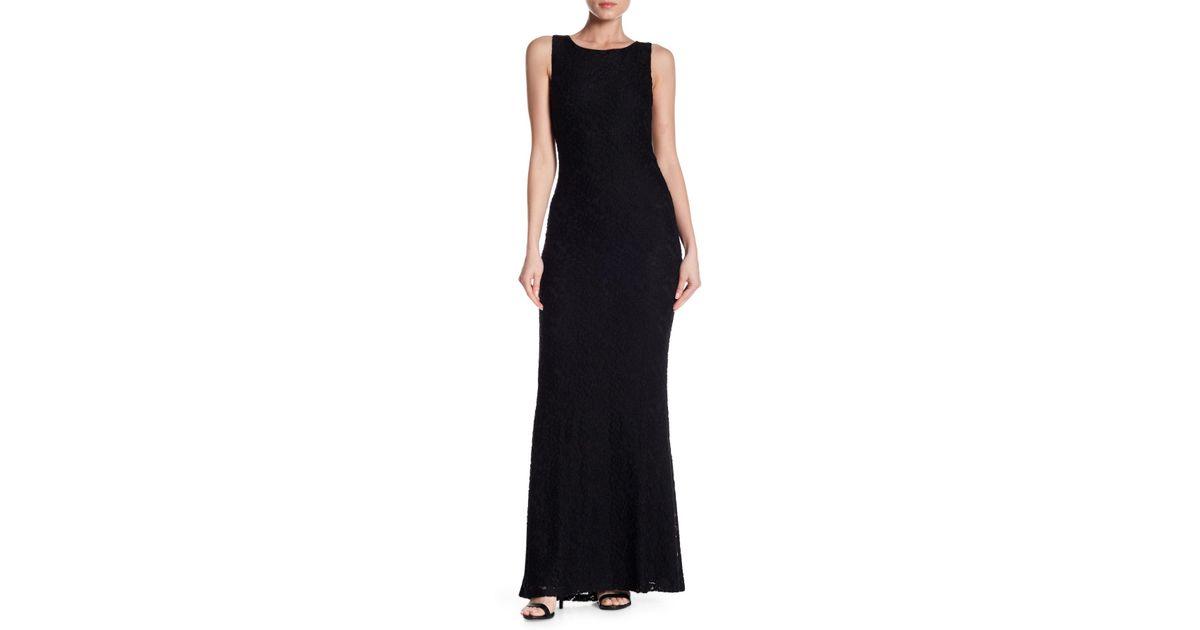 Lyst Alice Olivia Sachi Sleeveless Open Back Maxi Dress In Black