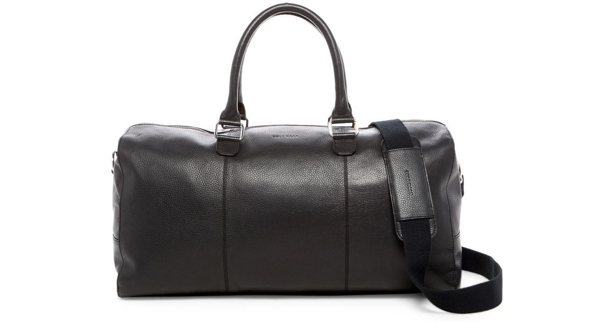 Lyst - Cole Haan Leather Duffle in Black for Men d3b2bfd83daf2
