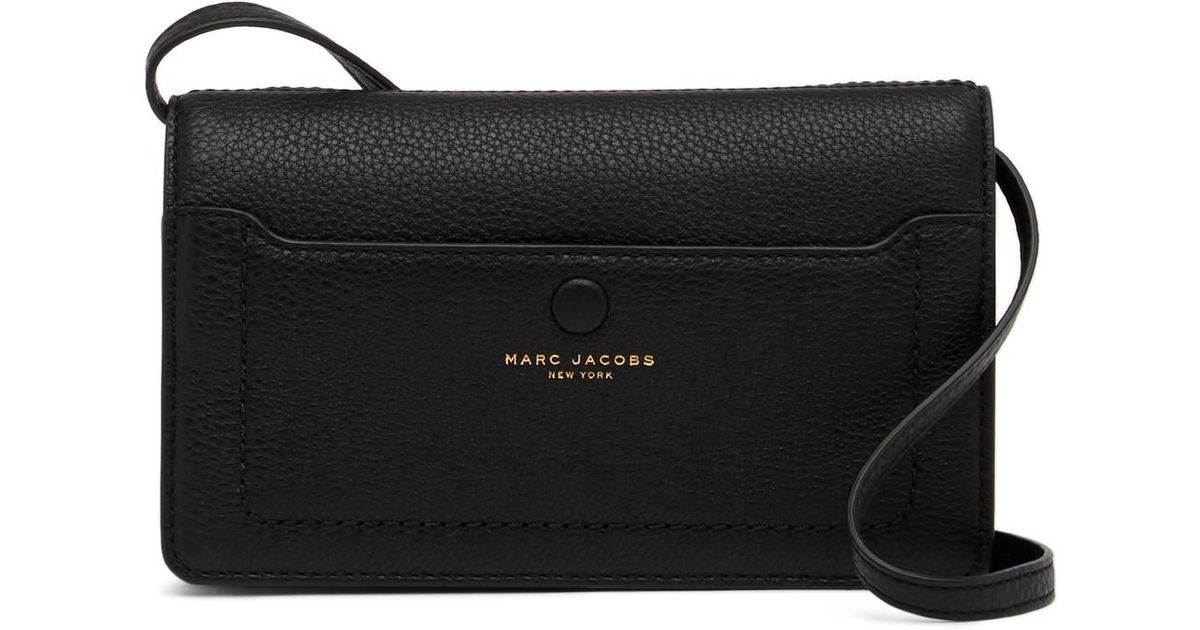 6f9d2b0f512f Marc Jacobs Empire City Str Leather Wallet in Black - Lyst
