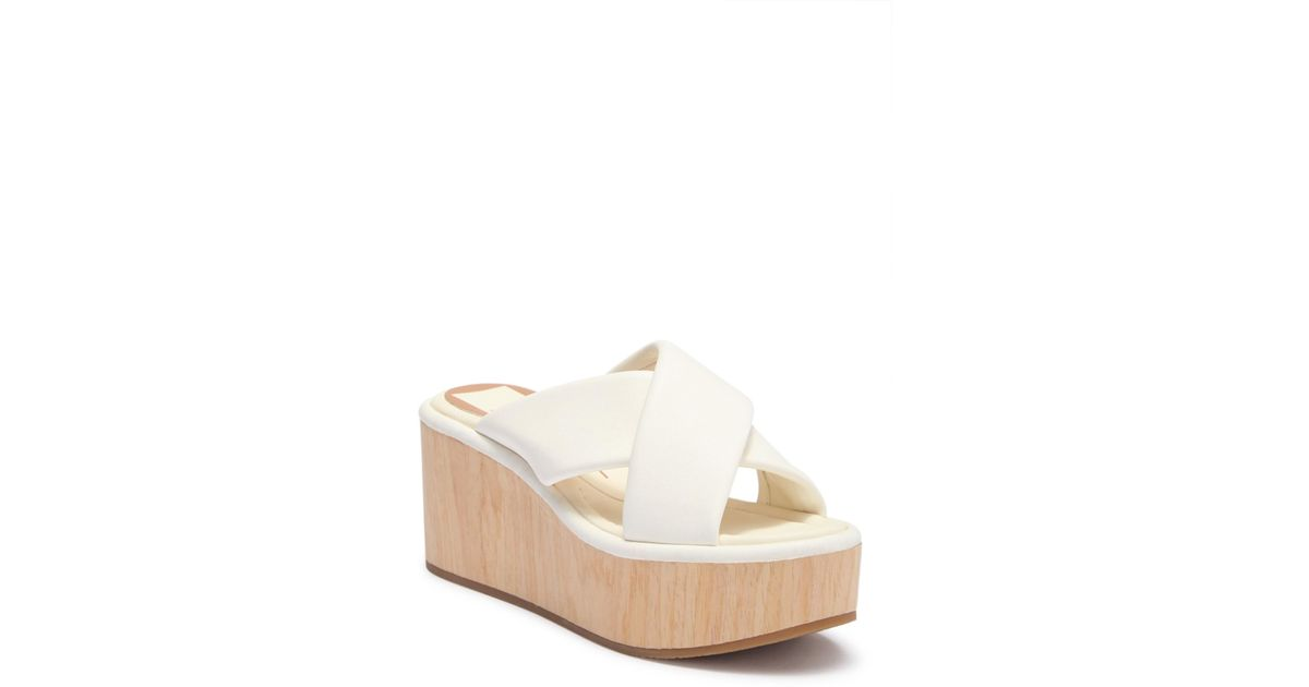 Dolce Vita Vinita Platform Wood Wedge Heel cV6LB1