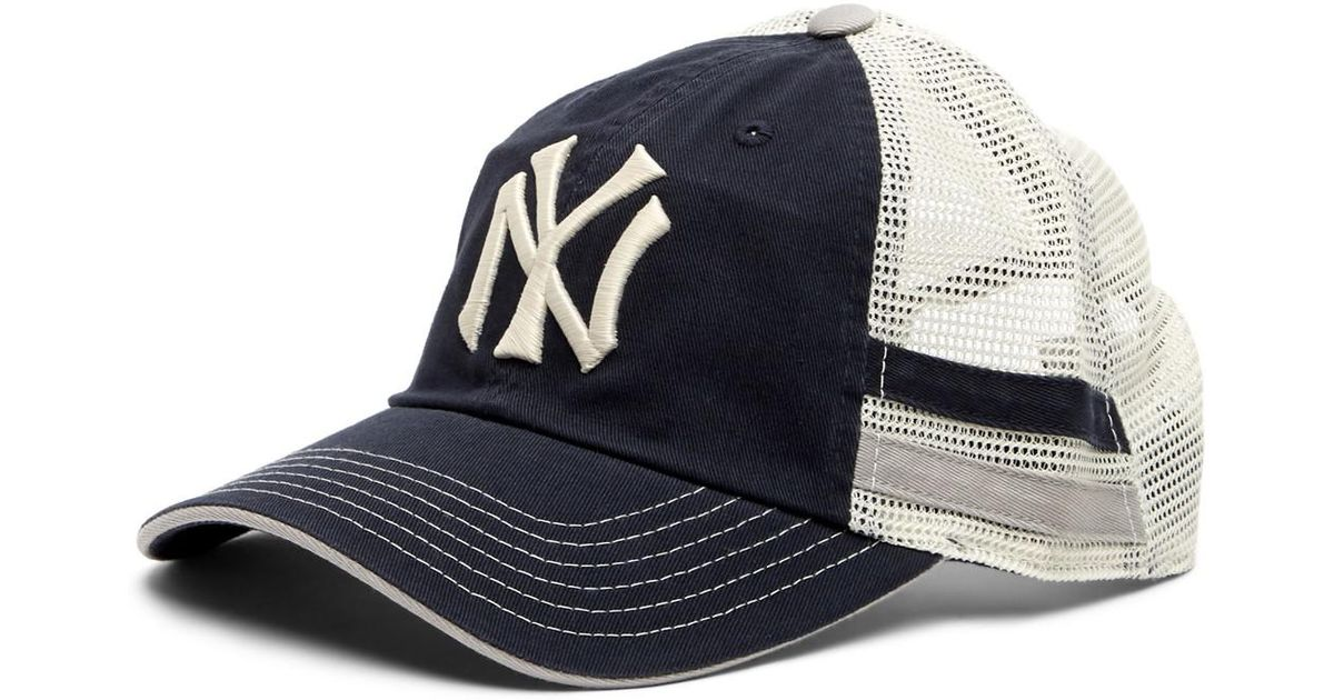 5b1f0a004ae Lyst - American Needle Foundry New York Yankees Mesh Back Baseball Cap in  Blue for Men
