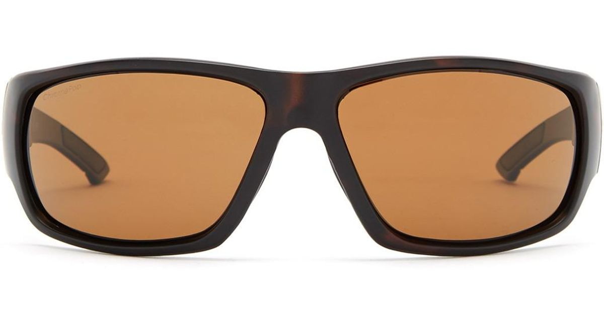 ef01809c0e Lyst - Smith Optics Women s Discord Polarized Wrap Sunglasses in Brown