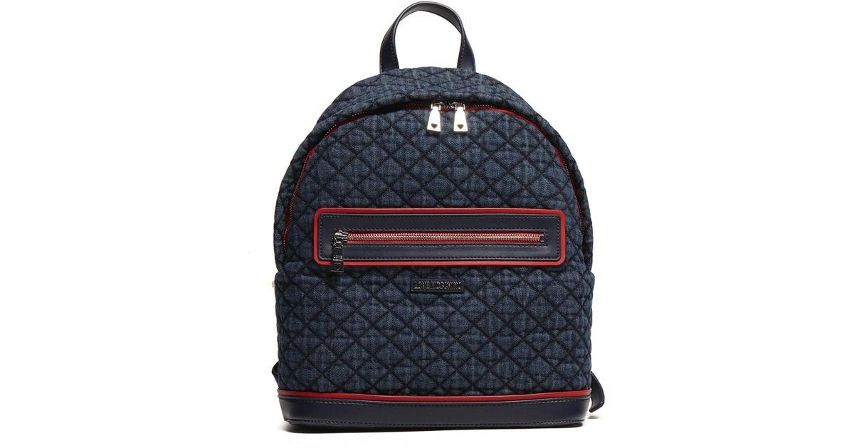 56da19fa7bc0d2 Love Moschino Denim Navy Ross Backpack in Blue - Lyst
