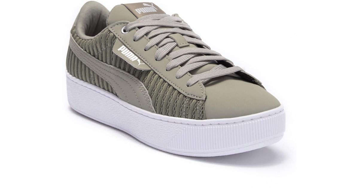 474911d2f4b Lyst - PUMA Vikky Platform Ep Q2 Platform Sneaker in Gray