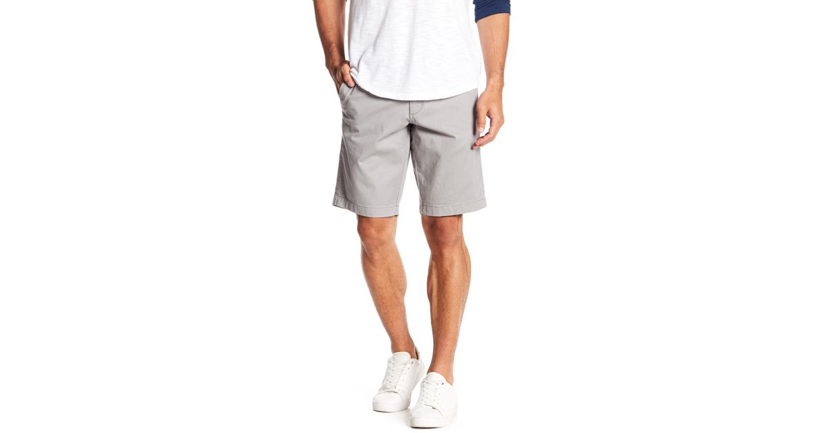752b624e89 Lyst - 1901 Ballard Slim Fit Stretch Chino 11-inch Shorts in Gray for Men