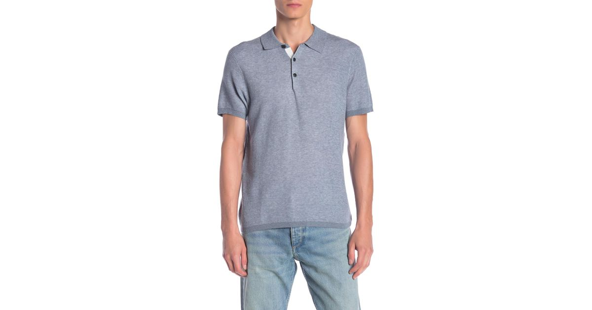 Lyst - Rag   Bone Tripp Knit Polo in Blue for Men f6725f9161f