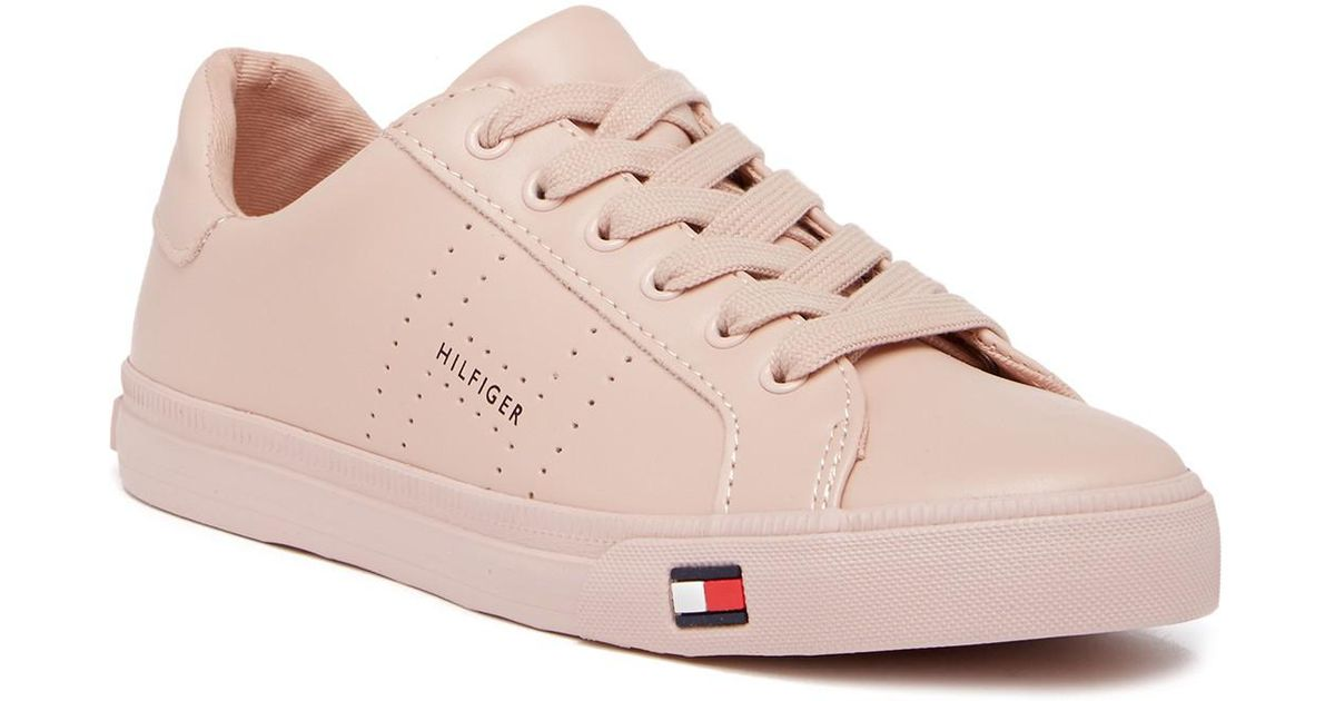 107c23d4 Tommy Hilfiger Luster Sneaker in Pink - Lyst