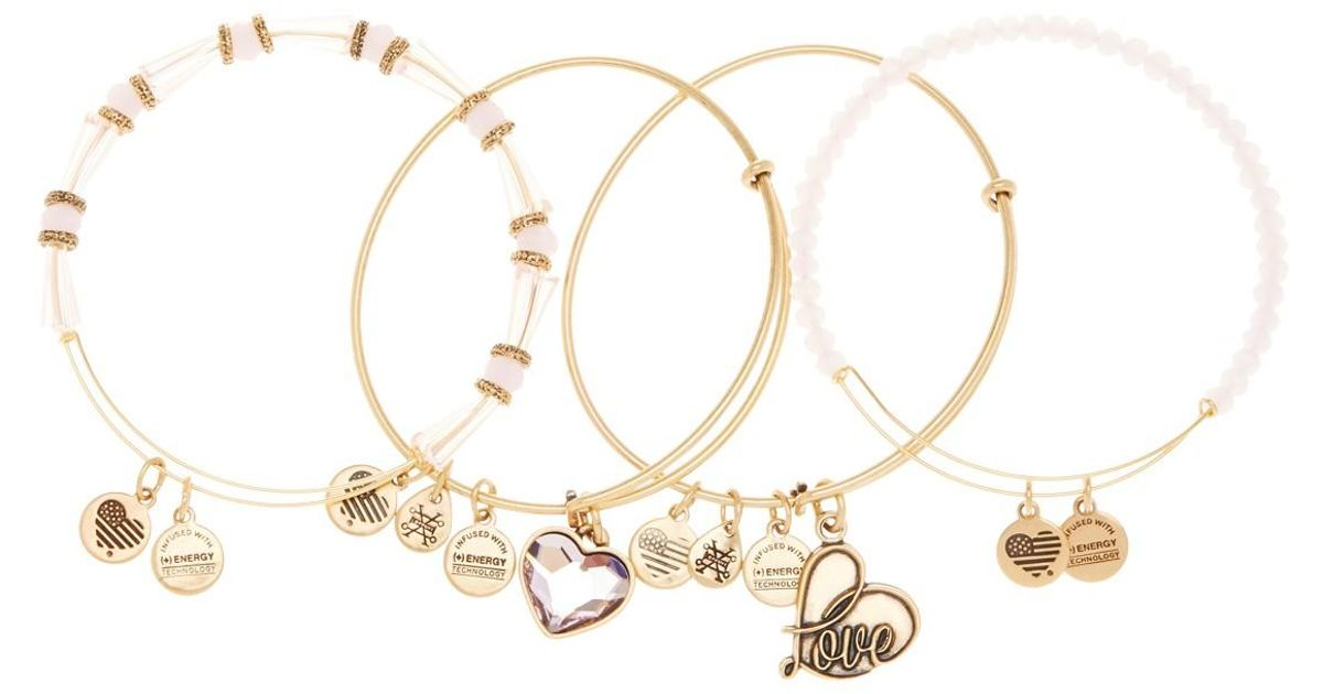 ea35a7a77 ALEX AND ANI International Exclusive Alive Swarovski Crystal Extendable  Wire Bangles - Set Of 4 in Metallic - Lyst