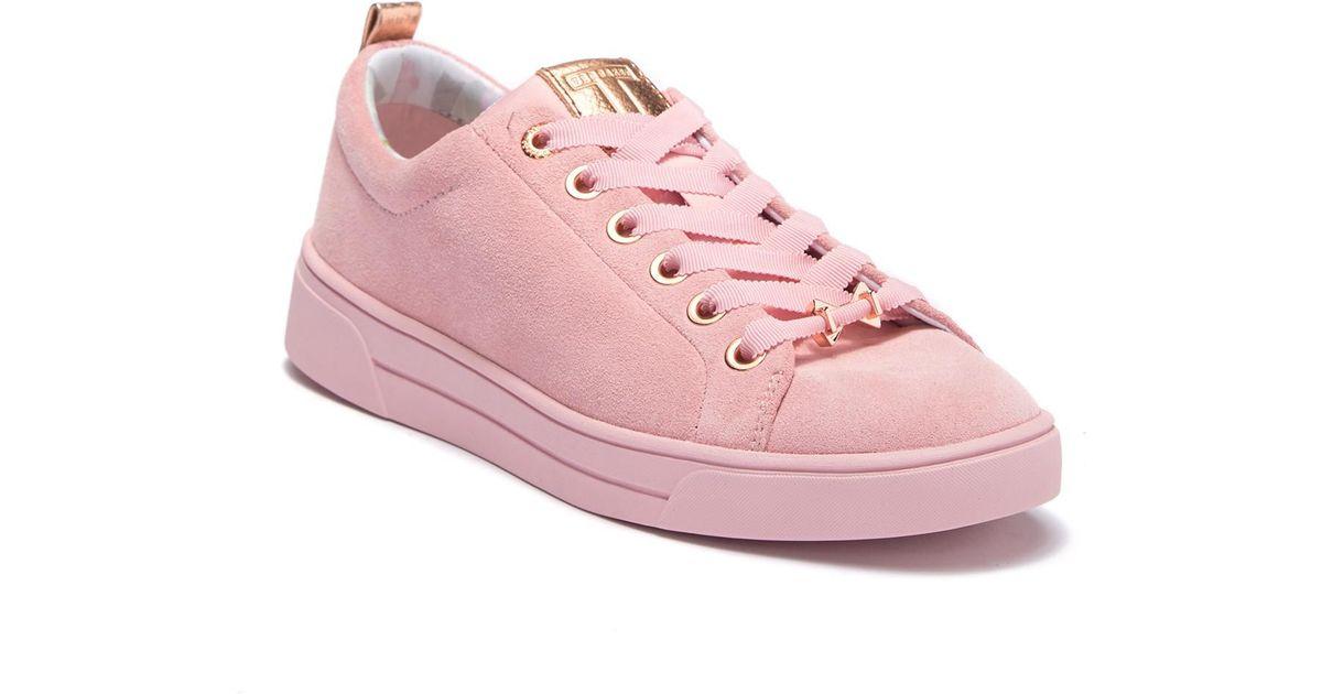 6085210c247d37 Lyst - Ted Baker Kelleis Leather Sneaker in Pink