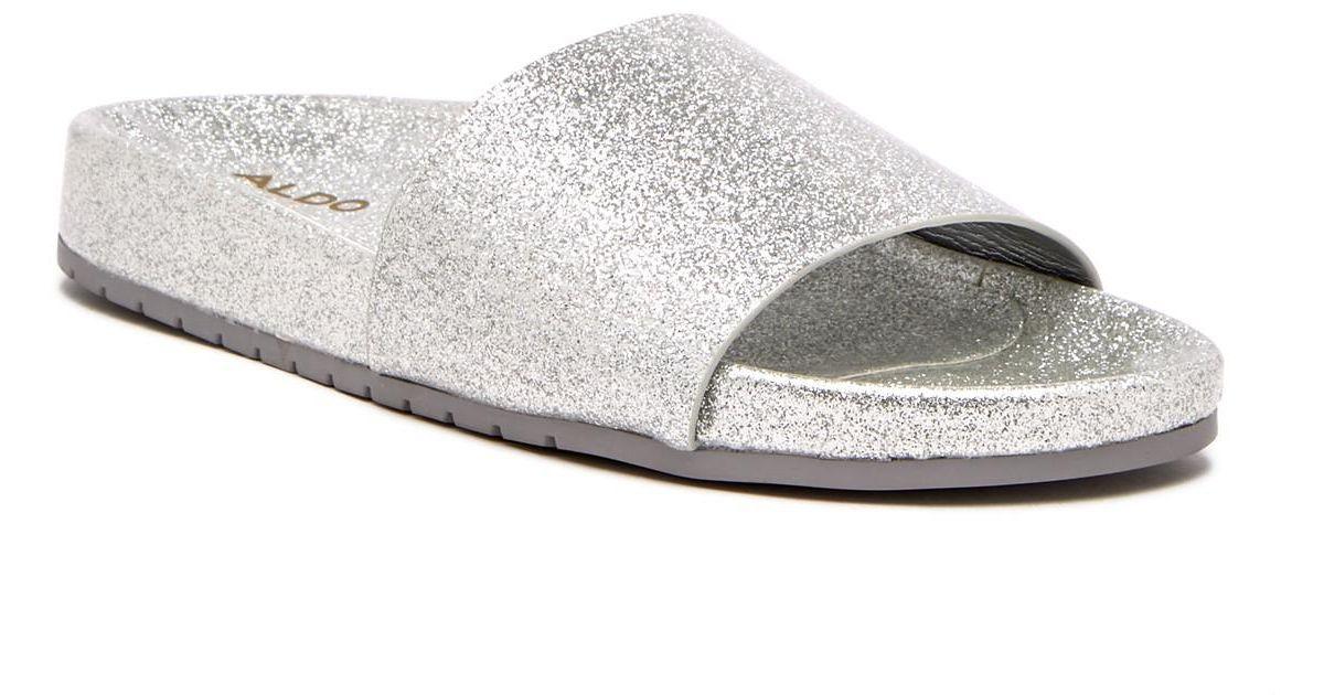 4df50fa8367b Lyst - ALDO Mirelacia Slide Sandal in Metallic
