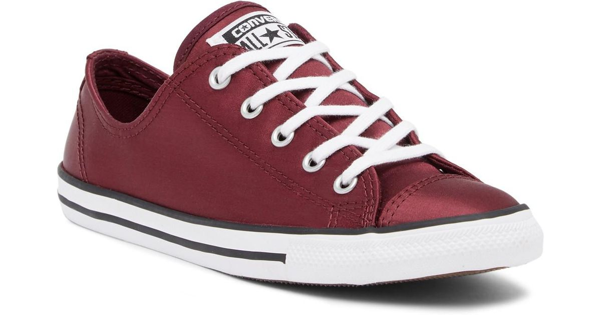 18bf2de90ea00e Lyst - Converse Chuck Taylor All Star Dainty Low Top Sneaker in Red