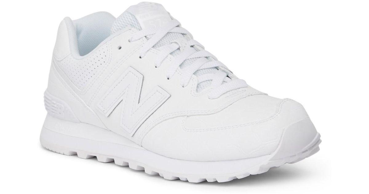 New Balance White 574 Classic Running Sneaker