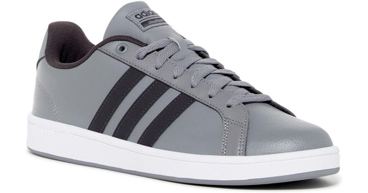lyst adidas cloudfoam vantaggio delle scarpe da ginnastica in grigio per gli uomini.