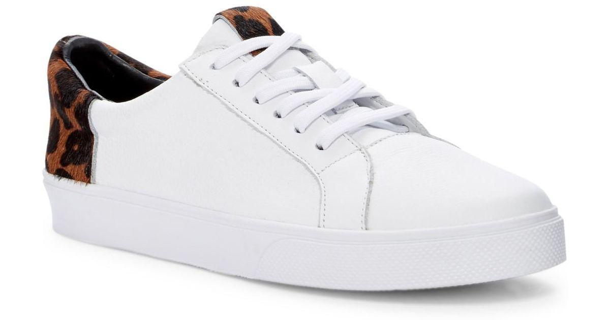 aba0b8477082 Lyst - Kaanas San Rafael Leopard Print Genuine Calf Hair Sneaker in White