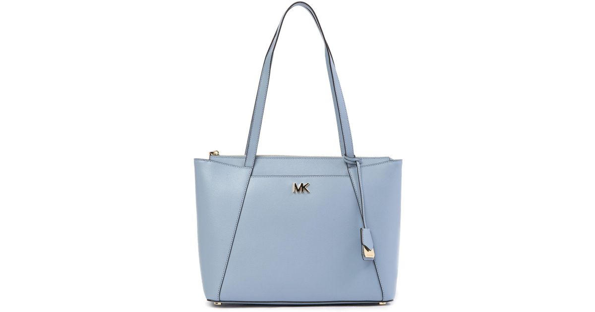 3c49137609f7 Lyst - MICHAEL Michael Kors Maddie Leather Tote Bag in Blue