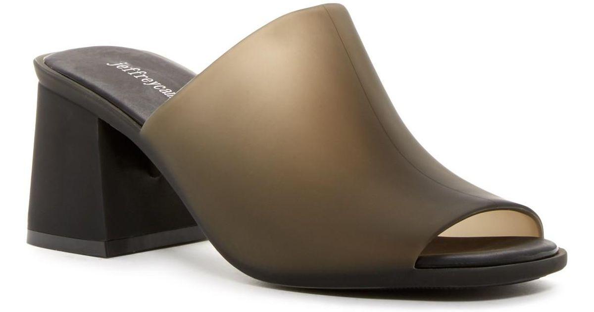 4e096884c1bf Lyst - Jeffrey Campbell Petra Jelly Block Heel Mule in Brown