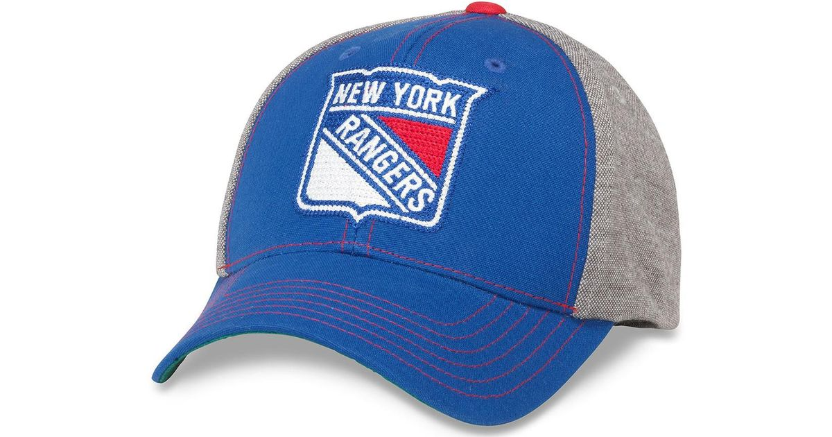 f9cd392adf3 ... sweden lyst american needle savvy new york rangers baseball cap in gray  for men 7e7a6 35afb