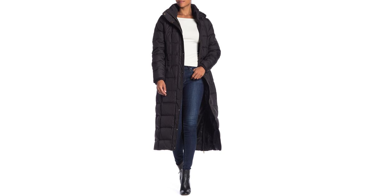 2616aeb536c MICHAEL Michael Kors Missy Maxi Hooded Down Jacket in Black - Lyst