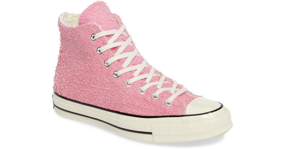 52a8fc8e87fa Lyst - Converse Chuck Taylor All Star 70s Fuzzy Bunny Hi Top Sneakers ( unisex) in Pink