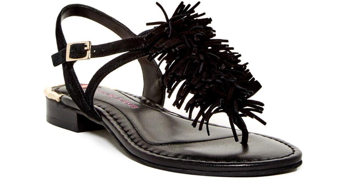 c5fa74f7efc4c Lyst - Elaine Turner Lina Fringe Sandal in Black