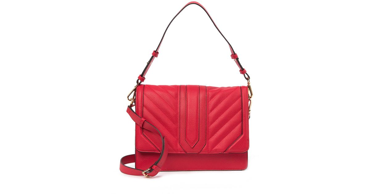 6a1b166c1f1 Lyst - Steve Madden Hampton Faux Leather Shoulder Bag in Red