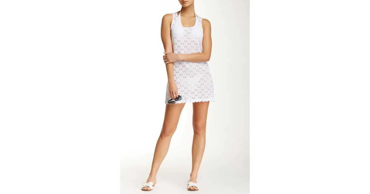 2ba24469be Lyst - J Valdi Circle Ring Tank Dress in White