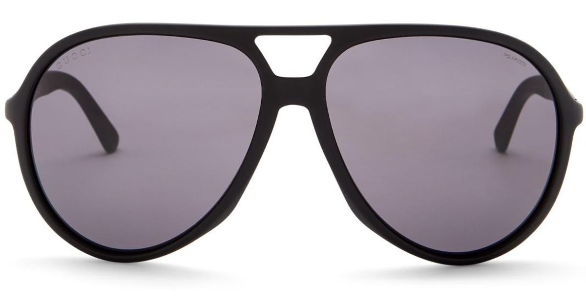 cb078cefa46 Lyst - Gucci Men s Aviator Acetate Frame Sunglasses for Men