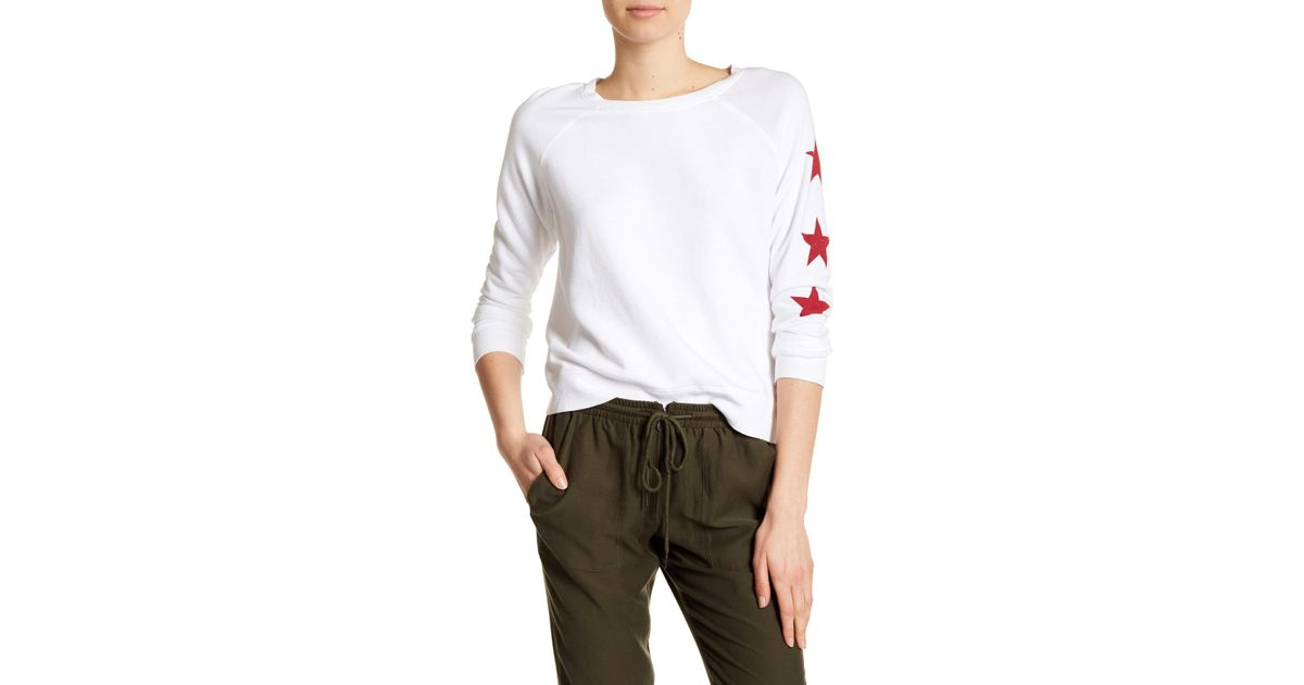 0a3c626323 Lyst - David Lerner Star Print Knit Pullover in White