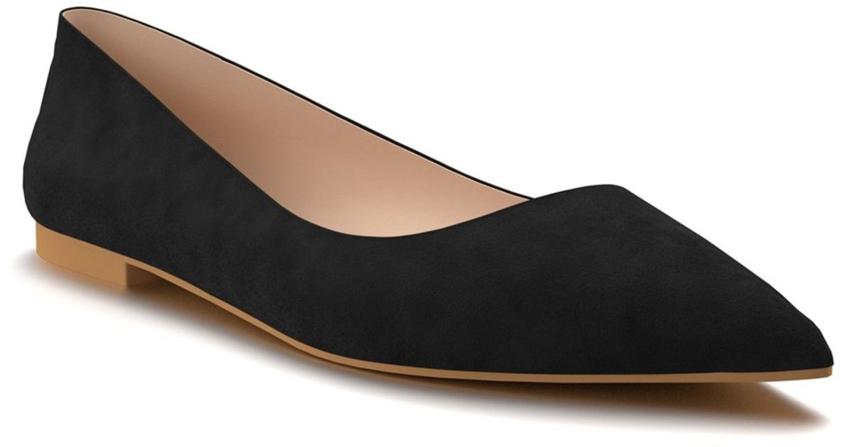 shoes of prey pointy toe flat in black black