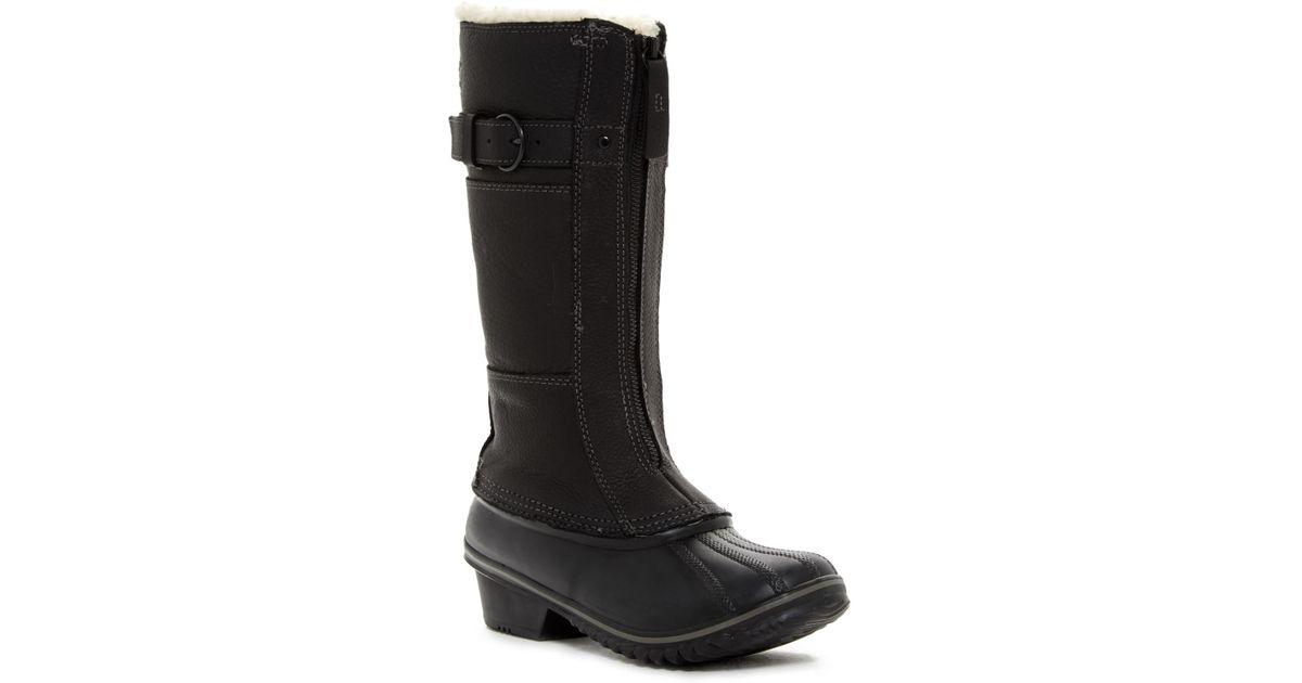8d379564c Sorel Winter Fancy Tall Ii Faux Shearling Lined Waterproof Boot (women) in  Black - Lyst
