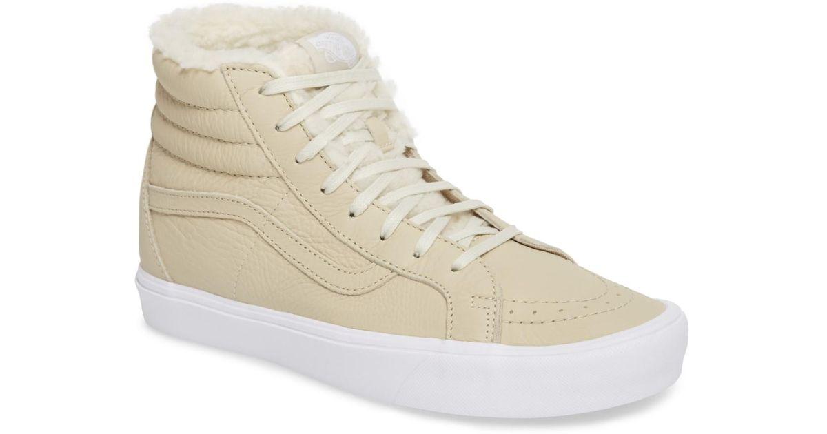 Lyst - Vans Sk8-hi Reissue Dx Lite Sneaker With Faux-fur Lining (men) in  Natural for Men 87e20ed3b