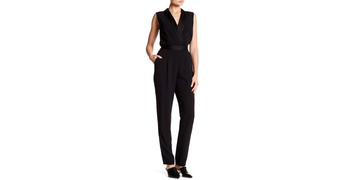 ddb653e01fab Lyst - BOSS Duxida Sleeveless Tuxedo Jumpsuit in Black