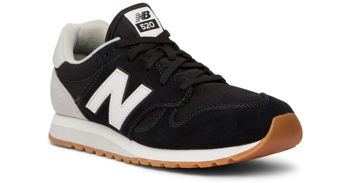 fde9a9e9f55 Lyst - New Balance 520 Phantom Classic Suede Sneaker in Black for Men