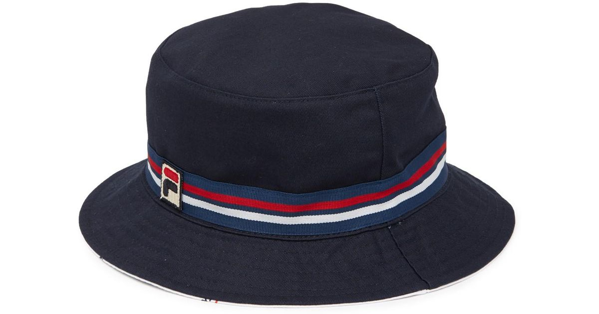 61085cfdf9d14 Lyst - Fila Heritage Reversible Bucket Hat in Blue for Men
