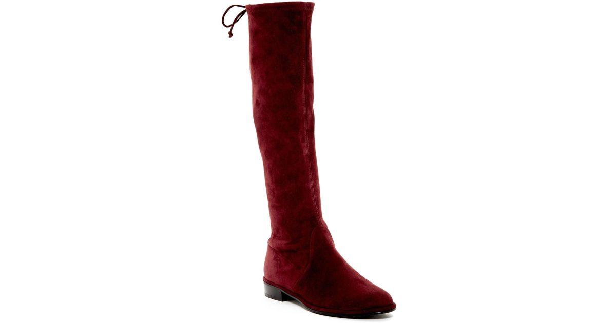 89114d24486 Lyst - Stuart Weitzman Kneezie Boot in Red